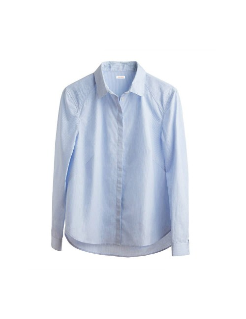 Poplin Pleat-Back Shirt