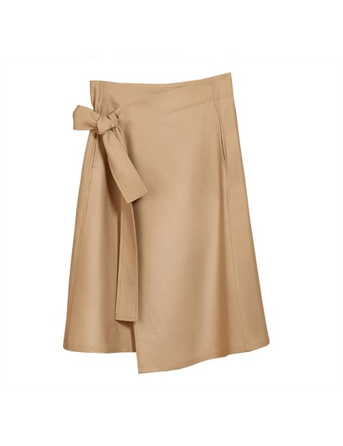 Wrap Skirt Knee Dresses...